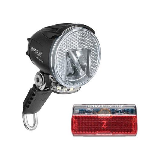 B&M Lumotec Cyo RT Senso Plus schwarz Tagfahrlicht Fahrradlicht Lichtset (inkl. Top Lite Line Plus Rücklicht)