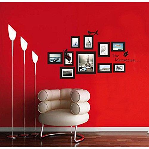 """Soledì- Fantastico Murales Adesivi """"10 Cornici Multiple per Foto"""" Decorazione da Parete Vinile Rimovibile Fai da te"""