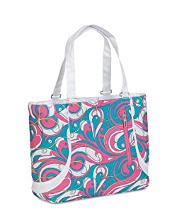 High Sierra Ashley Tote (16 x 145-Inch, Pink/Teal Swirl)