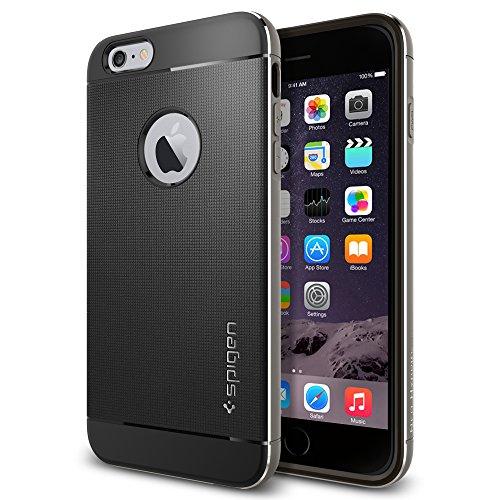 iPhone 6 Plus ケース Spigen [アルミニウム バンパー] ネオ・ハイブリッド メタル Apple iPhone (5.5) (国内正規品) (スペース・グレー SGP11177)