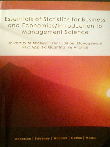 introduction to management science quantitative methods An introduction to management science : an introduction to linear programming 3 quantitative methods for business.