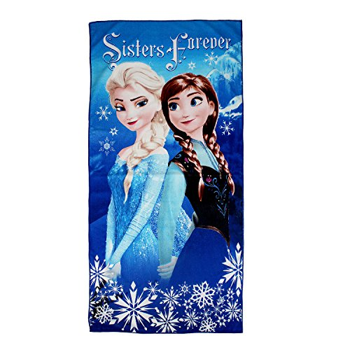 Belomoda-Frozen-Princess-Sister-Forever-Printed-Cotton-Blended-Kids-Cartoon-Bath-Towel-Multi
