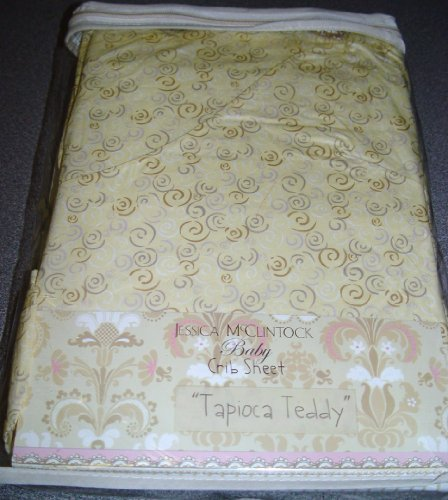 Jessica McClintock Baby Crib Sheet - Tapioca Teddy