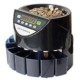 1stモール 【 全3種類 】 高速 電動コインカウンター (ブラック) 日本語説明書付き 総額 各種枚数 各種総額 ST-KWS-550-BK