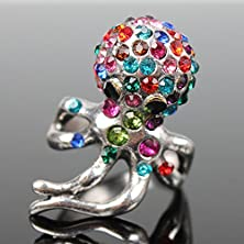 buy Master Jiwelry Antique Alien World Of Warcraft Medusa Ring Squid Woman With Animal Shape Czech Drill Tibet Alloy Jewelry