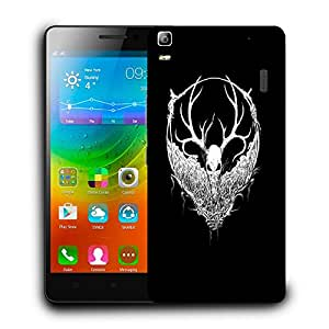 Snoogg White Fury Face Designer Protective Back Case Cover For LENOVO A7000 / K3 NOTE