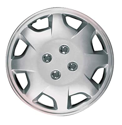 CCI IWC124-14S 14 Inch Clip On Silver Finish Hubcaps - Pack of 4