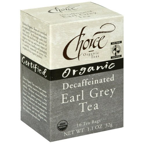 Choice Organic Decaf Earl Grey, 16-Count Box (Pack Of 6)