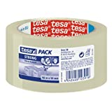 Tesa Clear Strong Packaging Tape, Tower Of 6 Rolls, 50 mm x 66 m (Pack of 6)by tesa UK