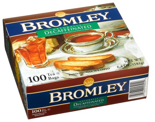 Bromley Decaffeinated Tea Bags, 100-Count Units (Pack of 5) by Bromley