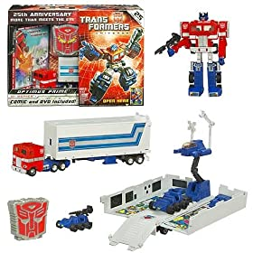 Transformers Universe GI Series Optimus Prime 25th Anniversary Pack with DVD