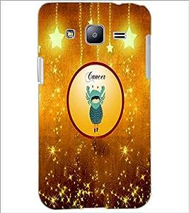 PrintDhaba Zodiac Cancer D-3665 Back Case Cover for SAMSUNG GALAXY J2 (Multi-Coloured)
