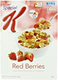 Kelloggs Special K Crunchy Rice and Wheat Flakes with Strawberries, Red Berries, 37 Ounce