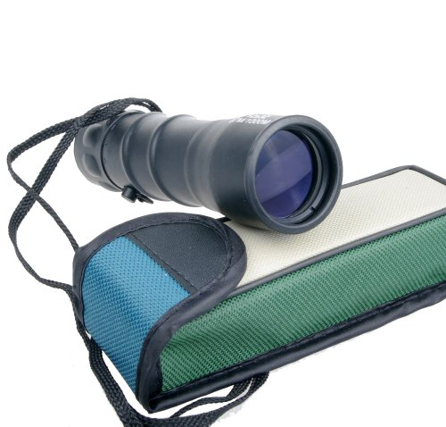 Nuoya001 Black 12X32 Monocular Telescopes Binoculars Roof Glass Prism (Include A Cycling Reflective Band As Gift)