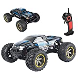 AMOSTING S911 33MPH 2.4GHz 2WD Off Road Waterproof Monster RC Truck, 1/12 Scale - Blue