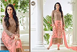 StarMart MF-ELEZITA-4 STRAIGHT Semi Stitched Suits-79010