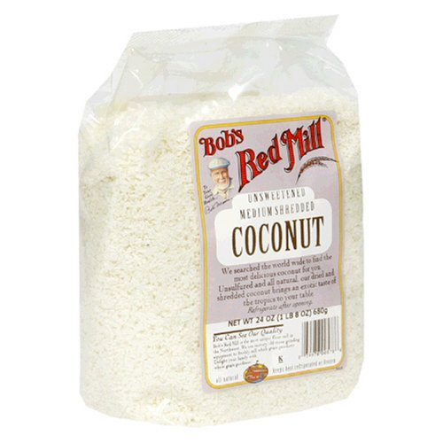 Bob's Red Mill Unsweetened Medium Shredded Coconut, 24-Ounce Packages (Pack of 4) by Coconut