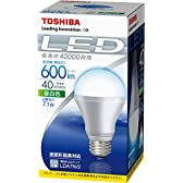 東芝 E-CORE(イー・コア) LED電球 一般電球形 7.1W(密閉器具対応・E26口金・一般白熱電球40W相当・600ルーメン・昼白色)  LDA7N/2