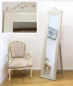 Elizabeth vintage free standing mirror roccoco bedroom for Free standing bedroom mirrors