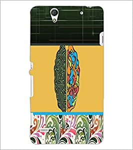 PrintDhaba Abstract Design D-3195 Back Case Cover for SONY XPERIA C4 (Multi-Coloured)
