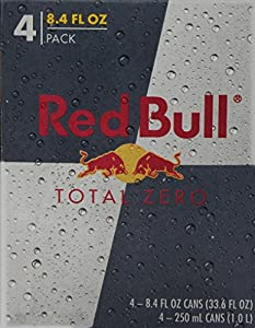 Red Bull Total Zero (4 Count, 8.4 Fl Oz Each)