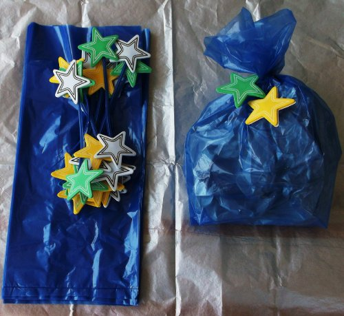 Blue with Star Tie Treat Bags 20 Ct