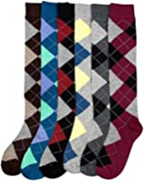 Differenttouch 6 Pairs Women's Mamia Fancy Design Multi Color Knee High Socks