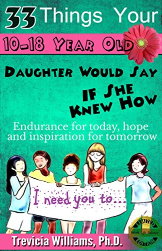 33 Things Your 10-18 Year Old Daughter Would Say to You If She Knew How: ENDURANCE FOR TODAY, HOPE AND INSPIRATION FOR TOMORROW FOR MOMS OF TWEEN-TEEN GIRLS EVERYWHERE! (Work-life Balance) (Book For 16 Year Old Girl compare prices)
