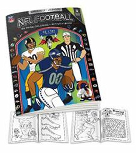NFL Coloring Book, Black/White, One Size