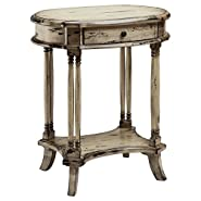 Brendan Oval Side Table with 1-Drawer
