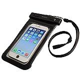 オウルテック iPhone6/6Plus Xperia GALAXY Note3も入る大きめサイズのスマートフォン用防水ケース 防水保護等級IPX8取得 OWL-MAWP03(BK)