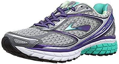 Brooks Women's Ghost 7, Color: Slvr/MulbryPrpl/PoolGrn, Size: 6.0