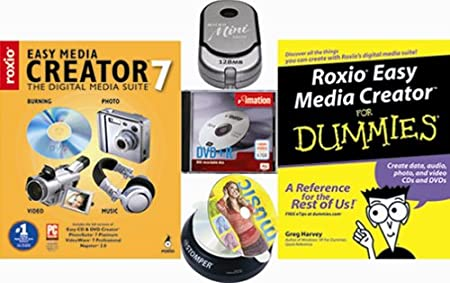 Roxio Easy Media Creator 7 Bundle [Dummies Book, USB Mini Drive, DVD+R Media]