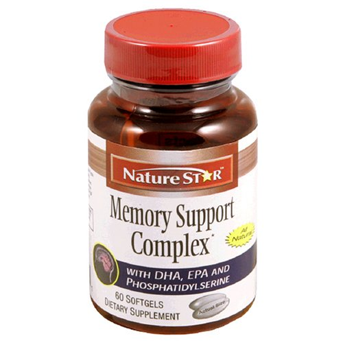 NatureStar Memory Support Complex Dietary Supplement Softgels, 60-Count Bottles (Pack of 2)