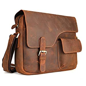 Kattee Designer Genuine Cow Leather Flapover Messenger Bag from Kattee