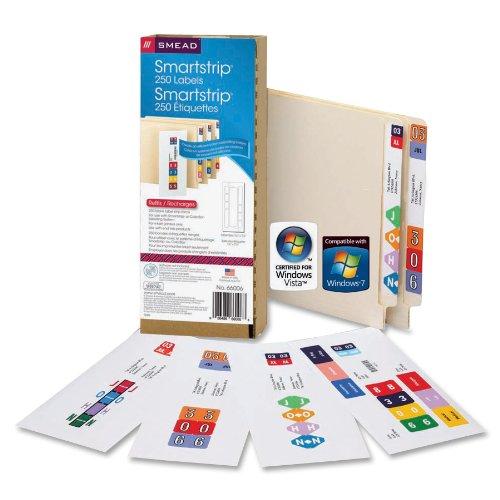 smead smartstrip labeling system refill pack end tab labels ink jet printer 66006 software. Black Bedroom Furniture Sets. Home Design Ideas