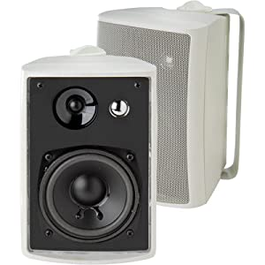 Dual LU43PW Indoor/Outdoor Speakers (White)
