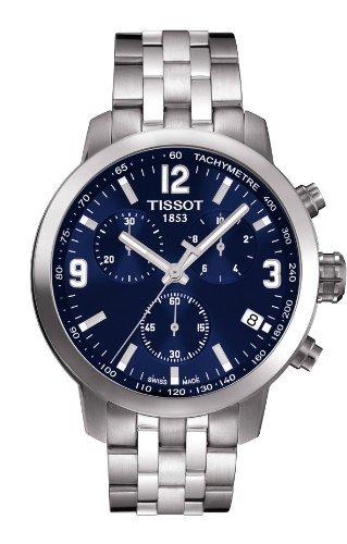 Tissot Chronograph Blue Dial Men's Quartz Watch - T055.417.11.047.00