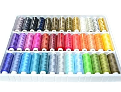 Nicedeco - hook,Crochet,39 Spools Rainbow Polyester Sewing Thread Box Kit Set For Quilting Stitching/Hand Sewing/Machine Sewing
