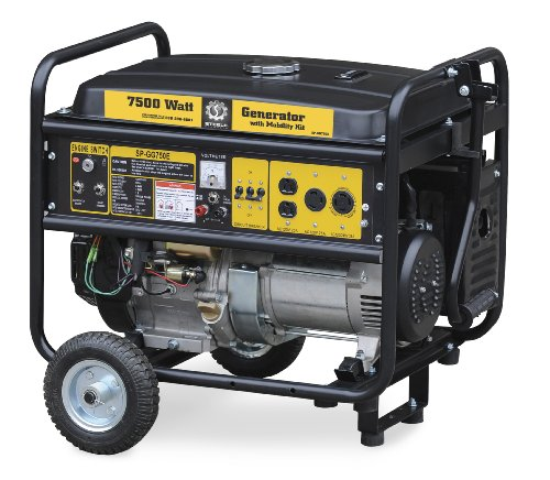 Steele Products SP-GG750EC 7,500 Watt 4-Cycle Gas Powered Portable Generator With Wheel Kit & Electric Start (CARB Compliant) Steele Products B002QGT804