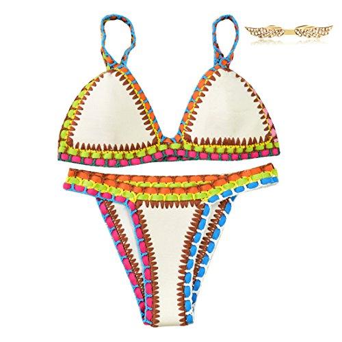 byd-da-donna-2pcs-bikini-coordinati-push-up-reggiseni-e-slip-costumi-da-bagno-di-colore-in-neoprene-