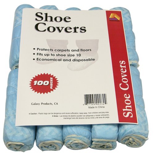 Disposable Polypropylene Shoe Covers, L, 100-Pack DSC100