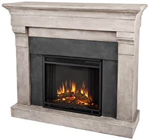 Real Flame Torrence 3737-X-CS Electric Fireplace in Cinder Stone