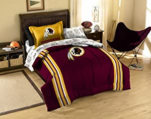 Washington Redskins Twin Comforter, Sheets and Sham (5 Piece Bed in a Bag) by NFL