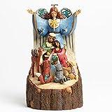 Jim Shore for Enesco Heartwood Creek Carved Woodland Nativity Figurine, 10-Inch