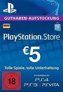 PlayStation Store Guthaben-Aufstockung 5 EUR [PS4, PS3, PS Vita PSN Code - deutsches Konto]