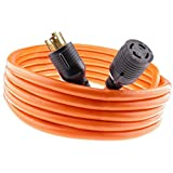 Nema L14-30 Generator Power Cord 4 Wire 10 Gauge 125/250v 30 Amp 20 Feet
