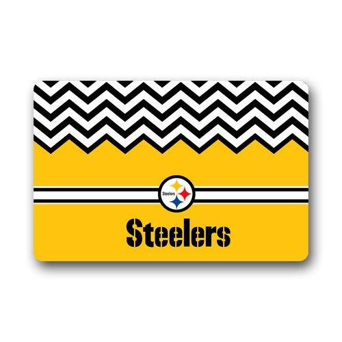 """Coolest Chevron Pittsburgh Steelers Doormat Door Mat 23.6""""(L) X 15.7""""(W) front-89380"""