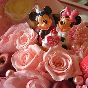 誕生日プレゼント ディズニー フラワーギフト 花 バースデー ミッキー ミニー A プリザーブドフラワーフレンチbox入り ピンク系