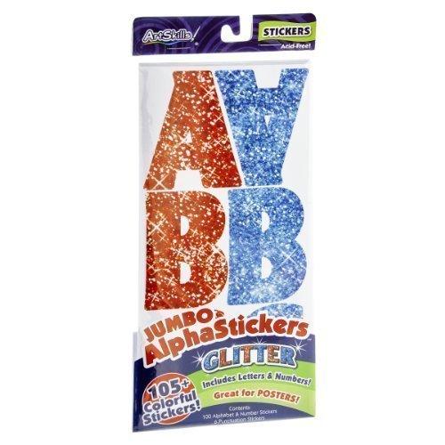ArtSkills Glitter Jumbo AlphaStickers - 105 CT - 1